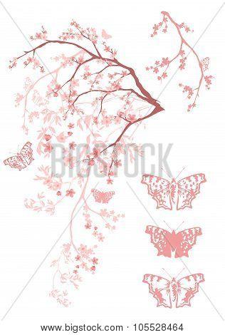 Spring Butterflies Tree