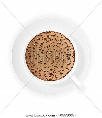 Cup Of Coffee Crema Vector Illustration