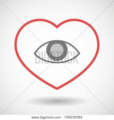 Line Heart Icon With An Eye