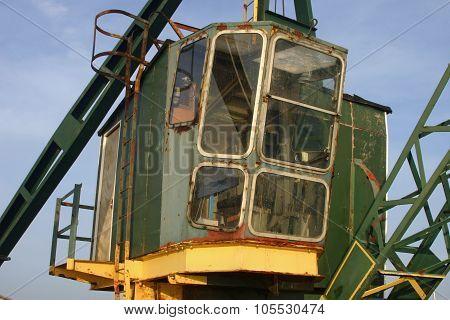 Old green crane