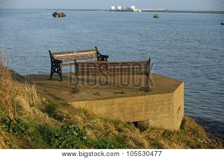 WW2 Pill Box with seats