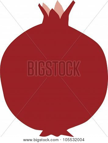 Whole Pomegranate illustration
