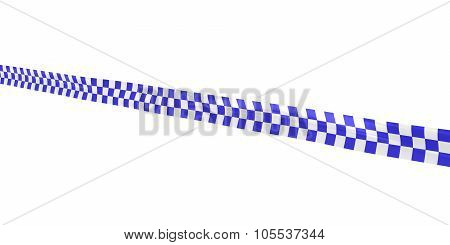 Blue And White Checkered Tape Line At Angle