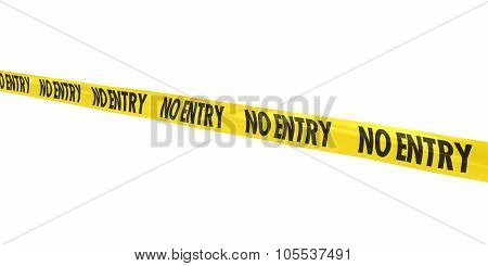 No Entry Tape Line At Angle