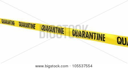 Quarantine Tape Line At Angle