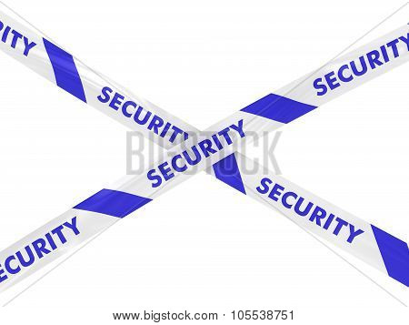 Blue And White Security Tape Cross