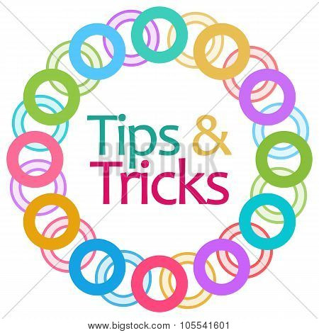 Tips And Tricks Colorful Rings Circular
