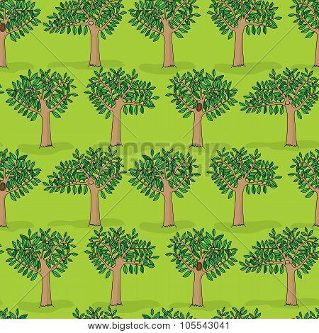 Spring Trees Pattern