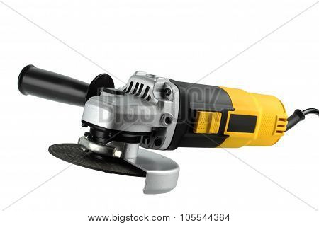 Angle Grinders On A White Background