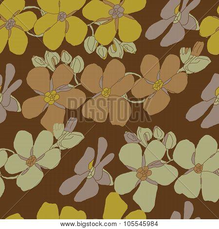 Floral seamless vintage pattern