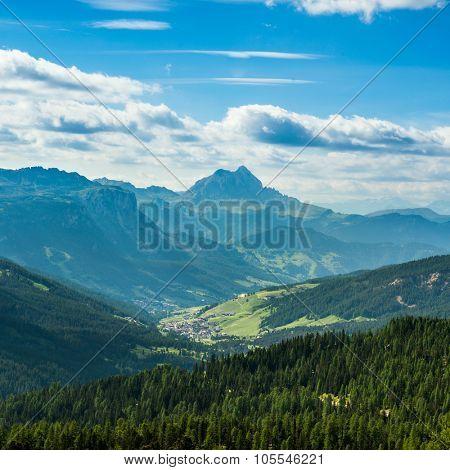famous Italian  Dolomites alps, South Tyrol.  Auronzo.