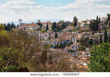 Granada. View on the Albayzin, Granada, Andalusia, Spain.