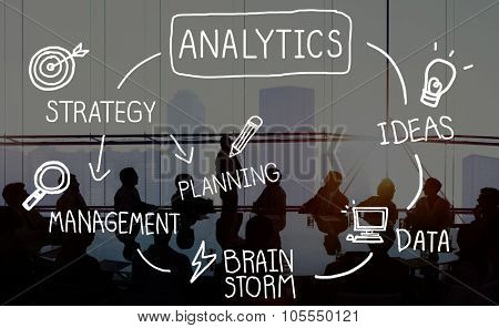Analytics Comparison Information Networking Management Concept