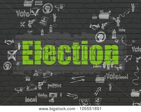 Political concept: Election on wall background