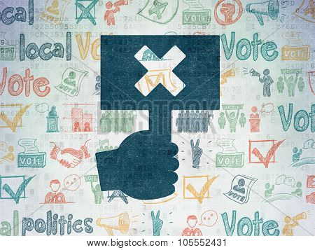 Political concept: Protest on Digital Paper background