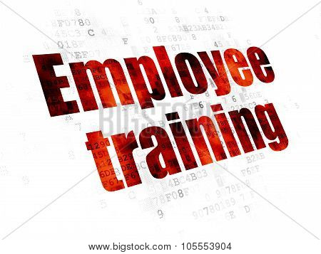 Learning concept: Employee Training on Digital background