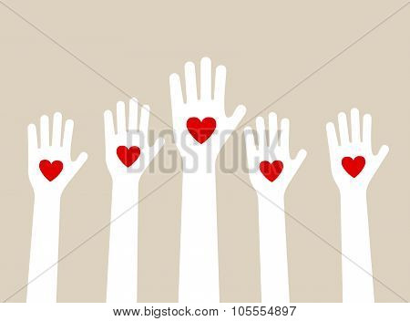 Hands Raising Love
