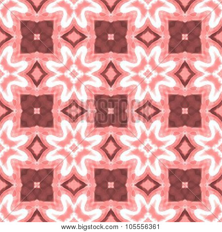 Old Pink Floral Geometrical Seamless Pattern Texture