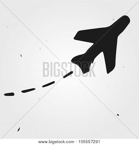 Aircraft Trajectory Hand Drawn, Flight Map