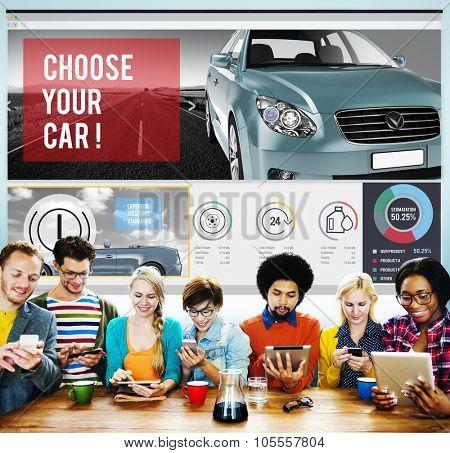 Car Technology Transportation Motor Engine Concept