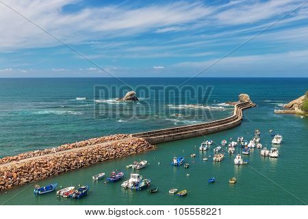 The Seaport Village Of Fishermen In Portugal. Alentejo In Vila Milfontes.