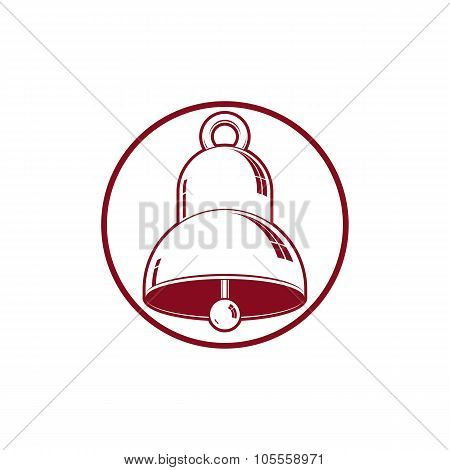 3D Stylish Bell Isolated On White. Detailed High Quality Vector Illustration. Three-dimensional Desi