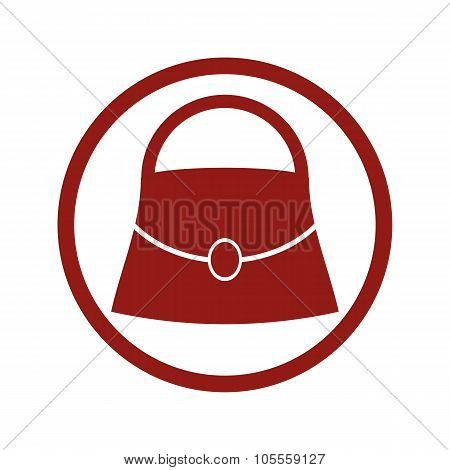 Woman Bag Vector Icon.
