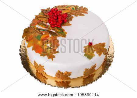 Autumn Birthday Cake. Beautiful And Delicious.