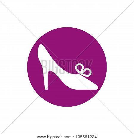 Footwear Icon, Vector Shoe Pictogram.