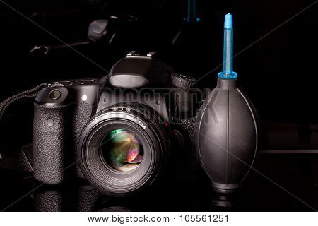 Camera With Blower