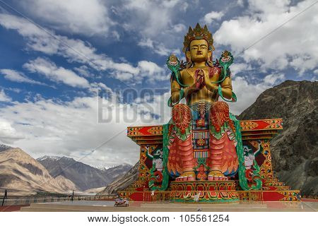 Big Sitting Buddha-diskit Monastery,ladakh,india
