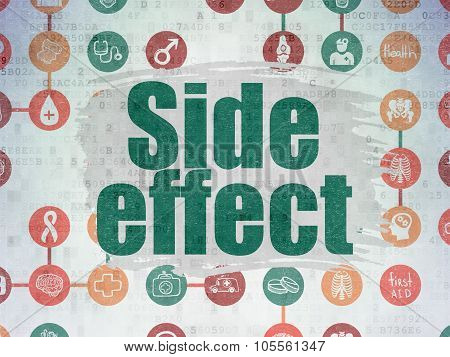 Medicine concept: Side Effect on Digital Paper background