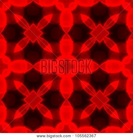 Red Caleidoscope Geometric Seamless Pattern Texture
