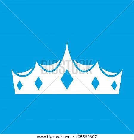 Crown white icon