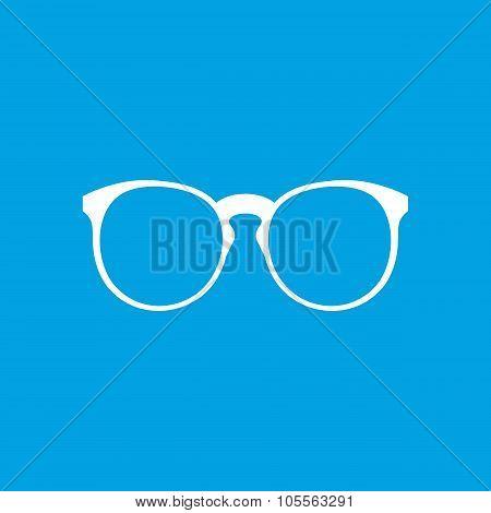 Eyeglasses white icon