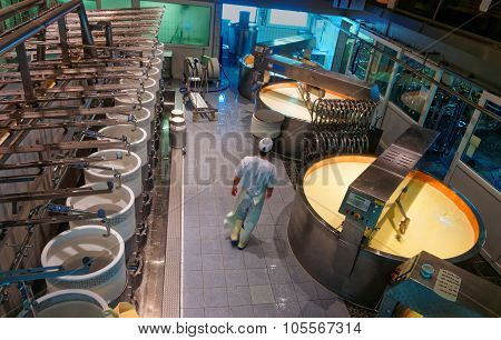 Gruyere Cheese Making Process