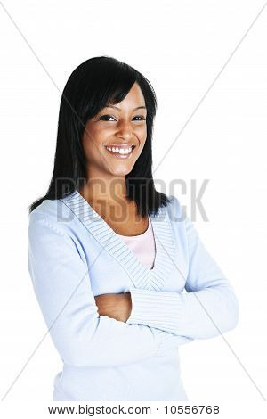 Smiling Young Woman With Crossed Arms