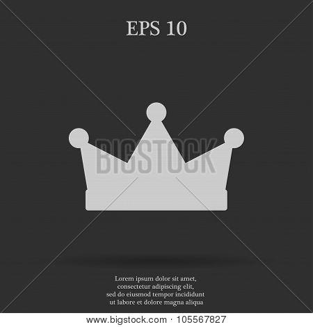 Crown Icon  Flat Design Style