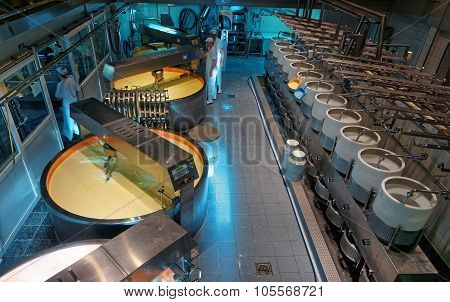 Interior Of The Maison Du Gruyere Cheese Factory