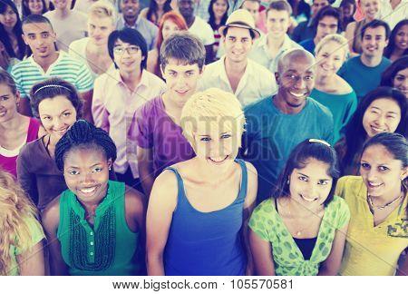 Multi-Ethnic Crowd Teamwork Friendship Concept