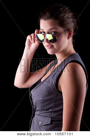 Cool Teenage Girl With Sunglasses