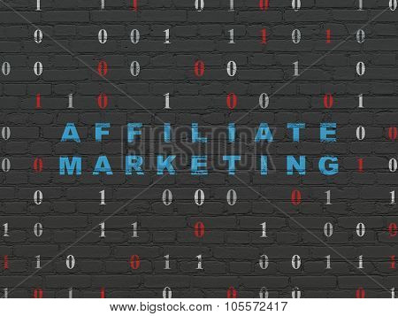 Business concept: Affiliate Marketing on wall background