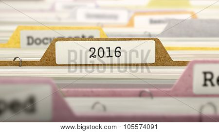 File Folder Labeled as 2016