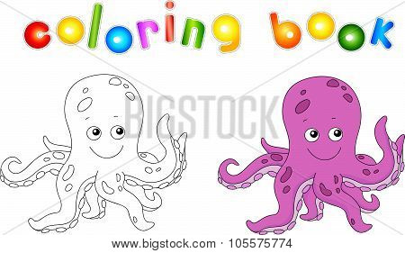 Funny And Friendly Cartoon Octopus