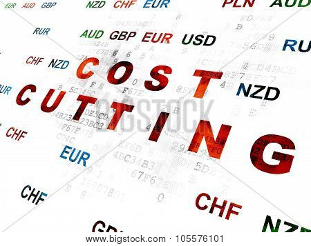 Business concept: Cost Cutting on Digital background