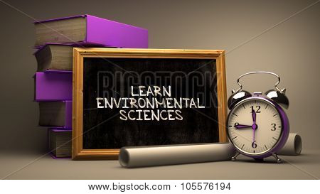 Learn Environmental Sciences. Chalkboard.