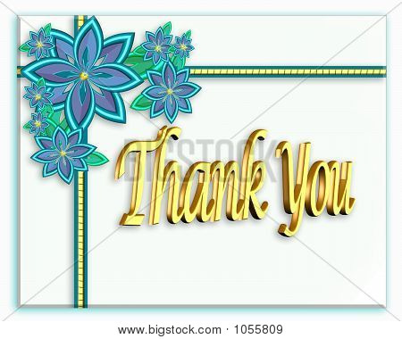 3D Flower Thank You Card