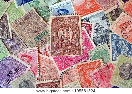 Old Serbian stamps
