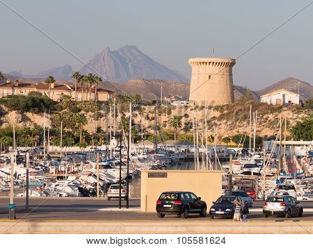View Of The Port Of El Campello