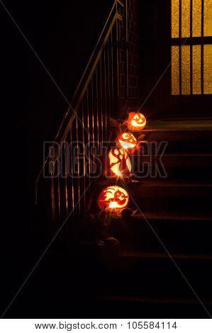 Pumpkins On Door Steps